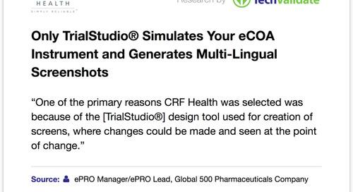 TrialStudio® Design Tool a Primary Reason for CRF Health Award