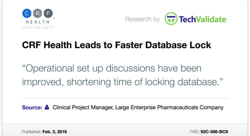 Testimonial: CRF Health Leads to Faster Database Lock