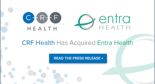 CRF Health Acquires Entra Health, a Global Leader in Digital Health Solutions