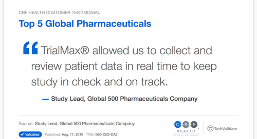 Top 5 Pharma Uses TrialMax® to Keep Study on Track