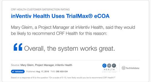 Testimonial: The TrialMax® eCOA System Works Great
