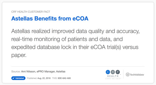 Astellas Benefits from eCOA