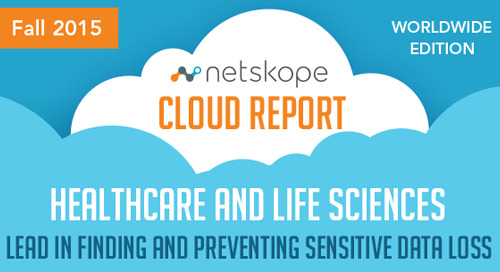 Netskope Cloud Report - Worldwide Edition Fall 2015 [Infographic]