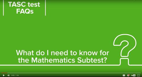 TASC Test YouTube Channel | TASC Test Blog