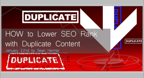 How to Lower SEO Rank with Duplicate Content