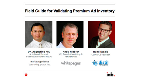 Field Guide for Validating Premium Ad Inventory, filtering out Non-Human Traffic
