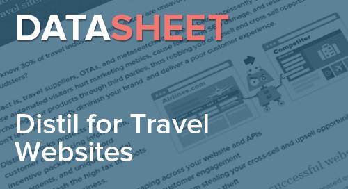Distil Networks for Travel Websites   Data Sheet