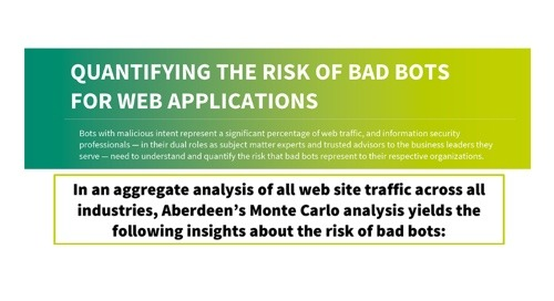 Aberdeen Monte Carlo Model Quantifying the Risk of Bad Bots In Your Web Traffic