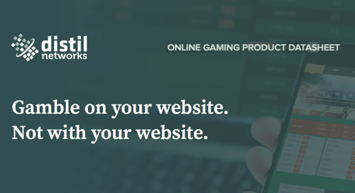 Distil for Gaming Websites | Data Sheet