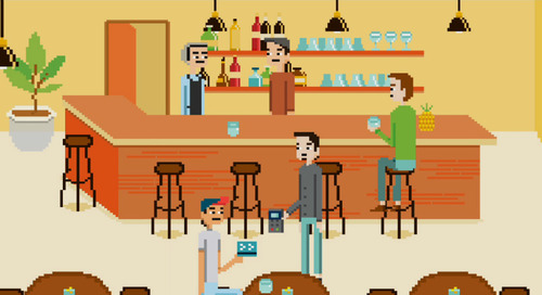 An 80's Throwback - Moneris Merchants Seen as 8-Bit Video Games!