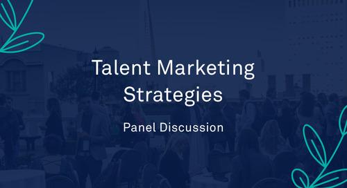 """Panel - """"Talent Marketing Strategies"""""""