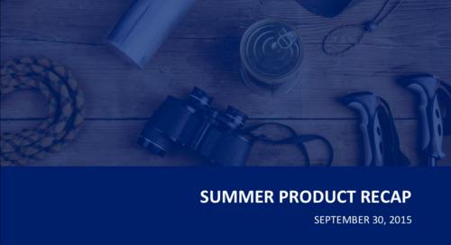 Webinar: Summer Product Recap