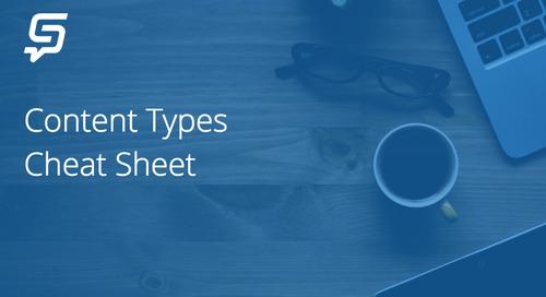 Content Types Cheat Sheet