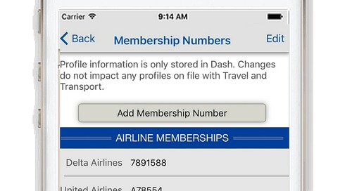 New in Dash Mobile - Loyalty Membership Numbers