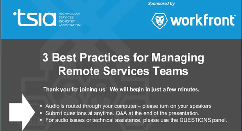 3 Best Practices for Managing Remote Professional Services Teams