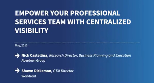 Empower Your Professional Services Team with Centralized Visibility