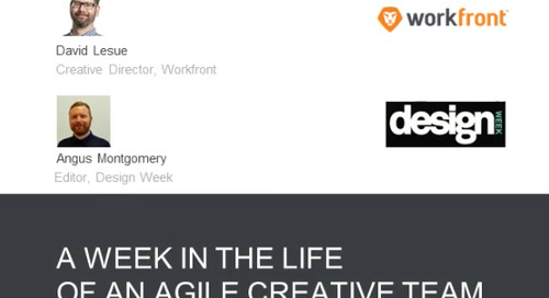 Design Week Webinar - Week in the Life of an Agile Creative Team