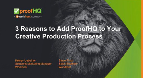 3 Reasons to Add ProofHQ to your Creative Project