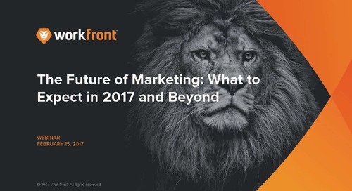 The Future of Marketing 2017: Part One