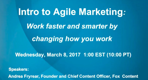 Intro to Agile Marketing