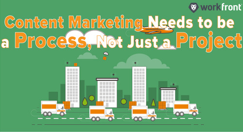 Content Marketing Needs to be a Process, Not Just a Project