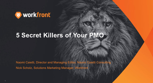 5 Secret Killers of Your IT PMO: Part 3