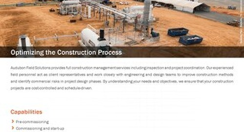 Facilities Construction Management and Inspection