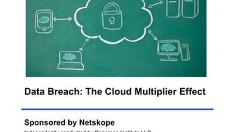 Data Breach: The Cloud Multiplier Effect