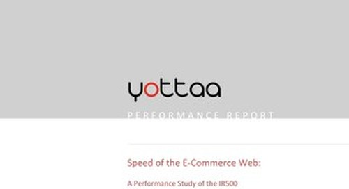 Speed of eCommerce Report 2013