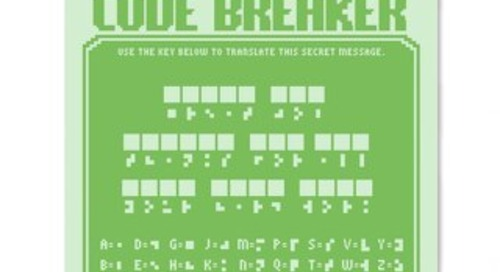 Fun Recognition Activity: Code Breaker
