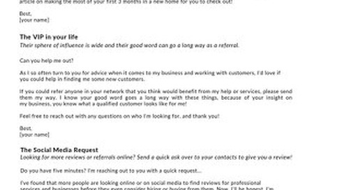 Referral Email Templates