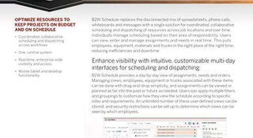 B2W Schedule Hotsheet - Construction Resource Planning & Scheduling Software