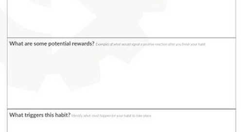 Creating Good Habits Worksheet