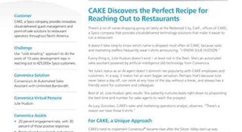 Cake/Sysco Case Study