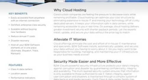 B2W Cloud Hotsheet - Cloud-based Construction Software
