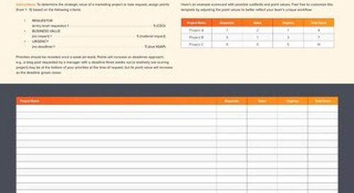 Scorecards for Marketing Projects