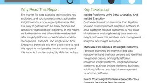 Forrester Vendor Landscape: Insights Platform