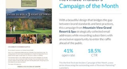 Insiders Campaign of the Month: Mountain View Grand Resort & Spa