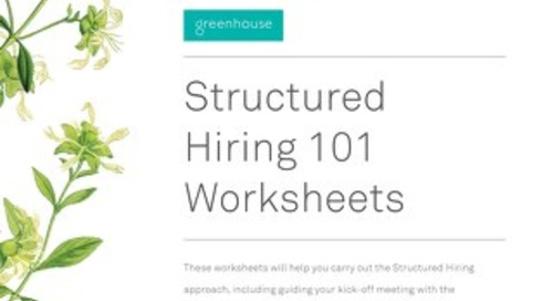 Structured Hiring 101 Worksheets