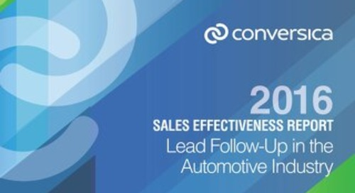 2016 Sales Effectiveness Report - Automotive Industry