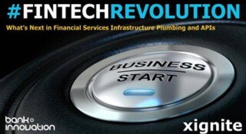 What's Next in Financial Services Infrastructure Plumbing and APIs