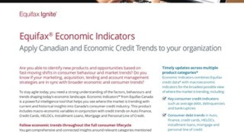 Economic Indicators - Optimize performance across your organization