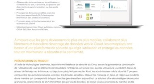 Netskope Plateforme Active - French