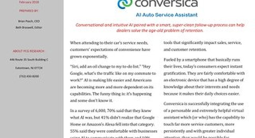 PCG Research on the Conversica AI Auto Service Assistant