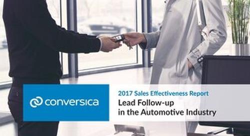 2017 Sales Effectiveness Report - Auto Edition