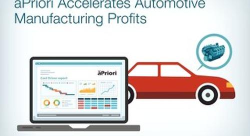 aPriori Accelerates Automotive Manufacturing Parts