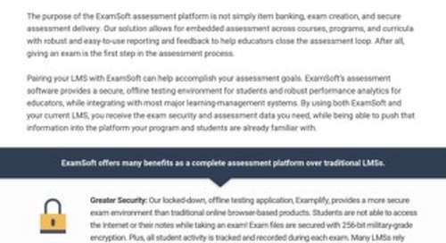 ExamSoft LMS Document