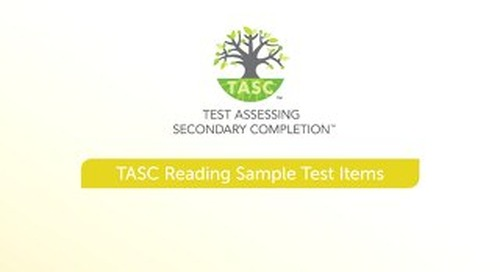 TASC Test Reading Sample Items