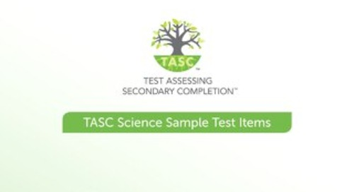 TASC Test Science Sample Items