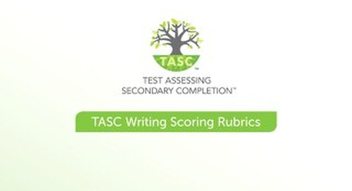 TASC Test Scoring Rubrics Sample Items